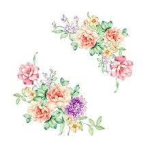Красочные Цветы 3D Наклейки На Стены Красивые Пион Наклейки Холодильник Туалет Decorat X7.19 Лучший!