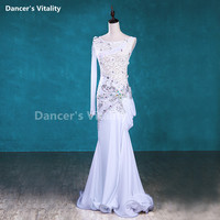 Luxury Belly Dancing Clothes Rhinestones Crystal Performance Dress Women Belly Dance Dress Stoage Dance Clothing S M L