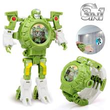 Transform Toys Robot Watch 3in1 Projection Kids Digital Wrist Watch Deformation Rescue Robot Toys