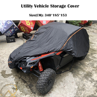 UTV 210D Oxford Cloth Protect Utility Vehicle Storage Cover from Rain Dirt Rays Reflective for Can Am Maverick X3 X 2015 2019