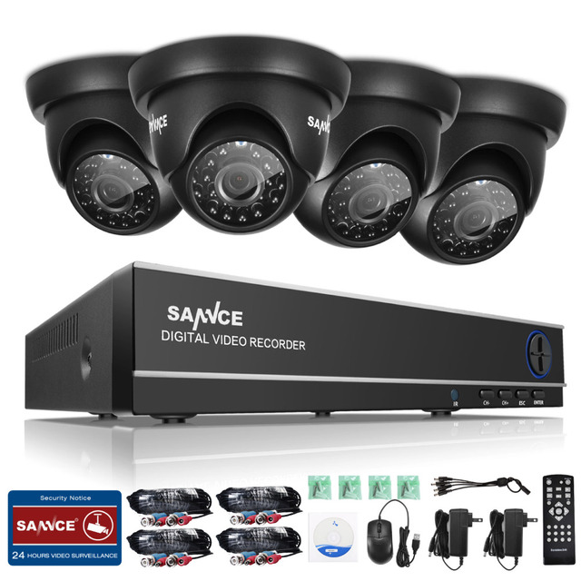 SANNCE 8CH 1080N TVI H.264+ 8CH  DVR 8720P Outdoor Dome CCTV Video Home Security Camera System Surveillance Kits