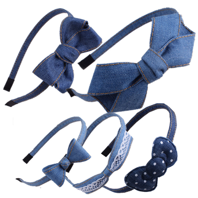 Denim Fashion Women Hairband Headband Hair Head Hoop Bands Accessories Turban For Women Girl Hair Scrunchy Headdress   Headwear