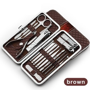 Image 5 - Juego de manicura de acero inoxidable 18 en 1, Kit profesional de cortaúñas para pedicura, cortador de uñas encarnadas