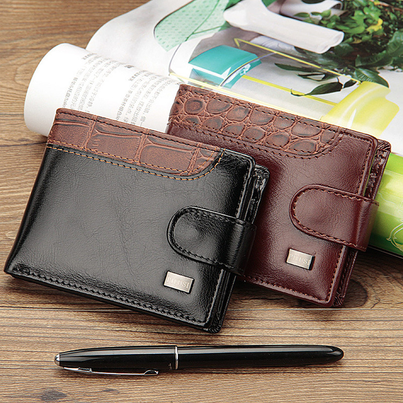 Baellerry Patchwork Leather Men Wallets Short Male Purse With Coin Pocket Card Holder Brand Trifold Wallet Men Clutch Money Bag 5