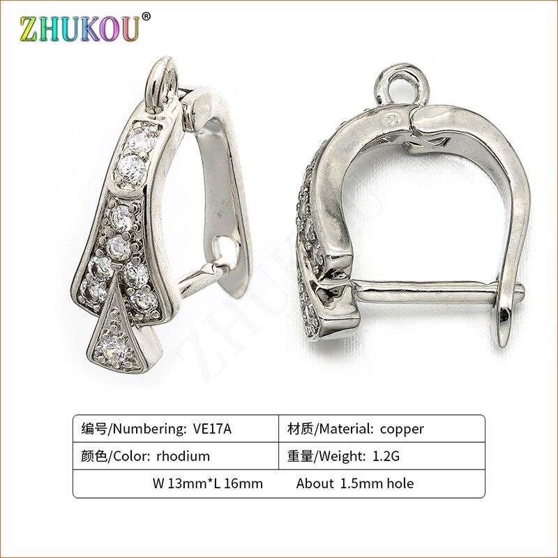 1 Paar 13*16mm Handgemachte Zirkonia Diy Ohrringe Zubehör, Loch: 1,5mm, Mixed Farbe, Modell: Ve17 Fabriken Und Minen