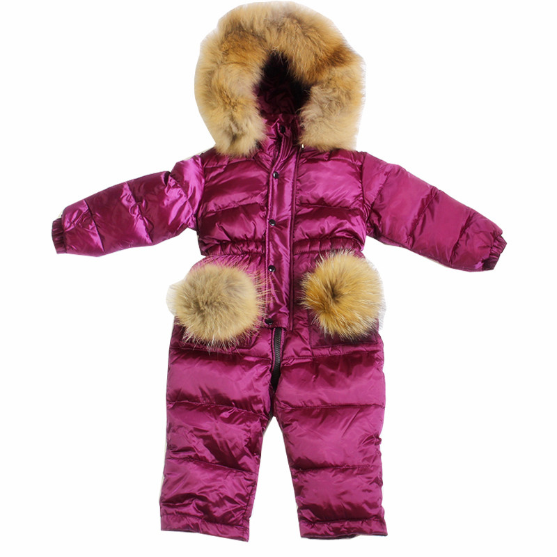 Design For Infant Girl Snowsuit Children Down Jacket Winter Thicken Costume Kids Boys Outerwear Wear 12m-4t Girls Warm Hooded