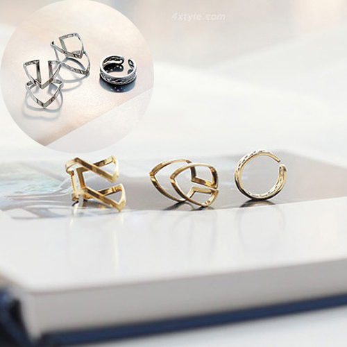 Hot Women Fashion Trendy Silvery/Golden Urban Punk Above Knuckle Rings 3 Pcs/Set Jewelry Gift