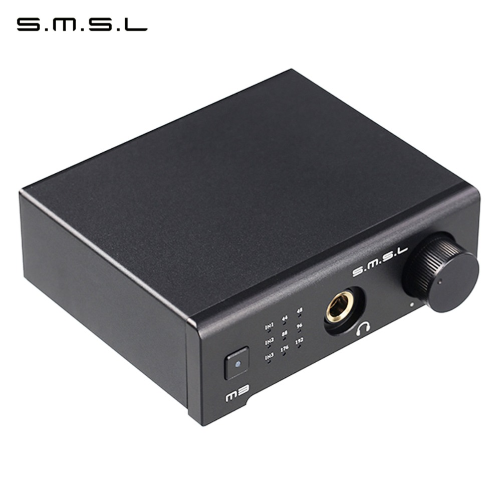цена SMSL M3 Multi-function HIFI DAC All-in-one Headphone Audio Decoder Amplifier Powered By USB With USB Optical Fiber Coaxial Input онлайн в 2017 году