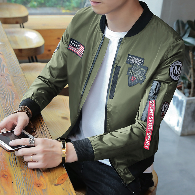 2019 Autumn Teens Men's Jacket New Cultivate One's Morality Short Paragraph Color Matching Collar Jacket Male Baseball Uniform