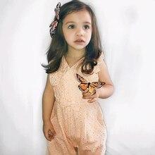 Kleinkind Baby Mädchen Kleidung Bow Ärmellose Einteiler Overall Outfits Sommer