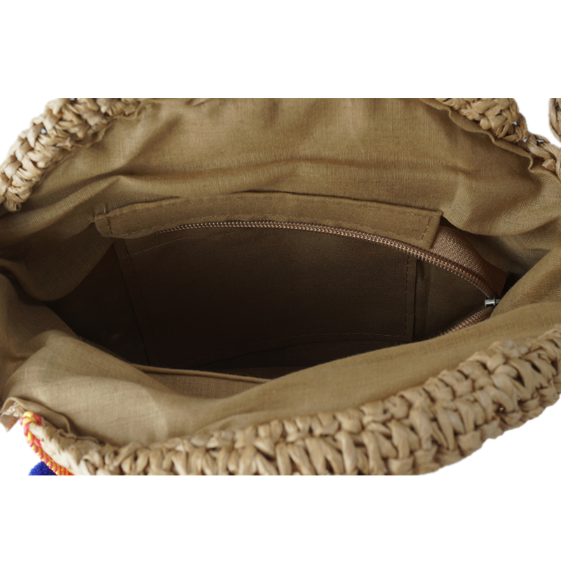 a6a6da1aa5 LOTEC Women Bohemian Bali Mini Round Straw Bag Summer Beach Vintage  Handmade Shoulder Bag Woven Circle Portable Crossbody Bag-in Shoulder Bags  from Luggage ...