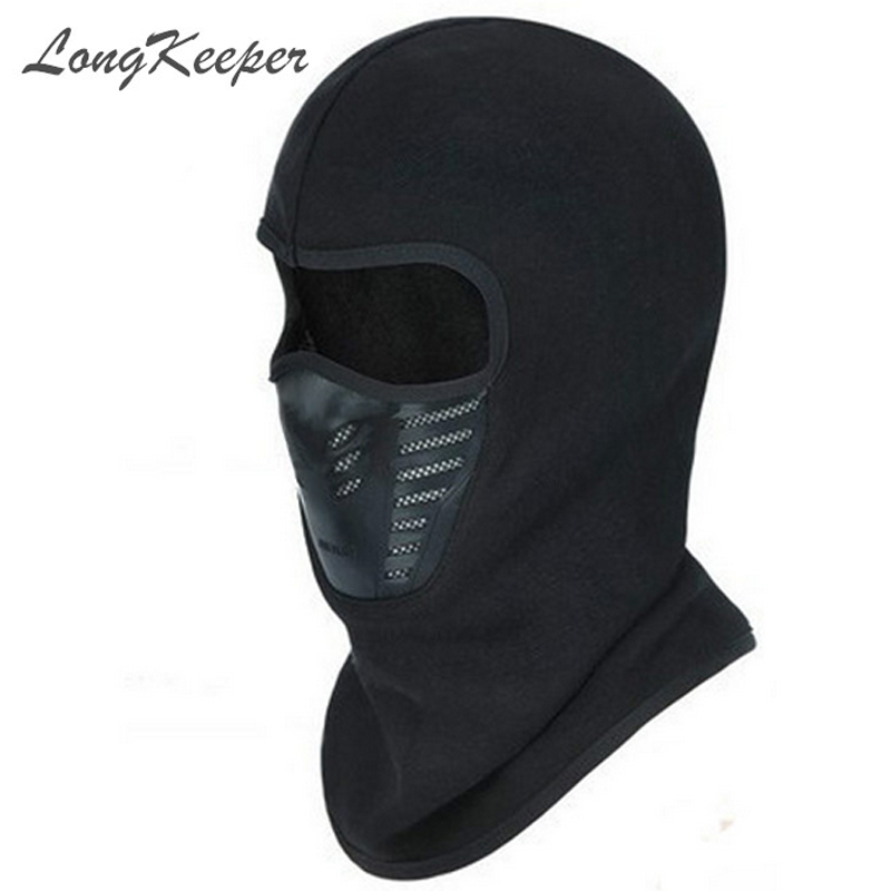 LongKeeper Winter Warm Full Face Cover Thermal Fleece Lined Windproof Anti Dust Ski Mask Balaclava Hood Rubber Breathable Vent