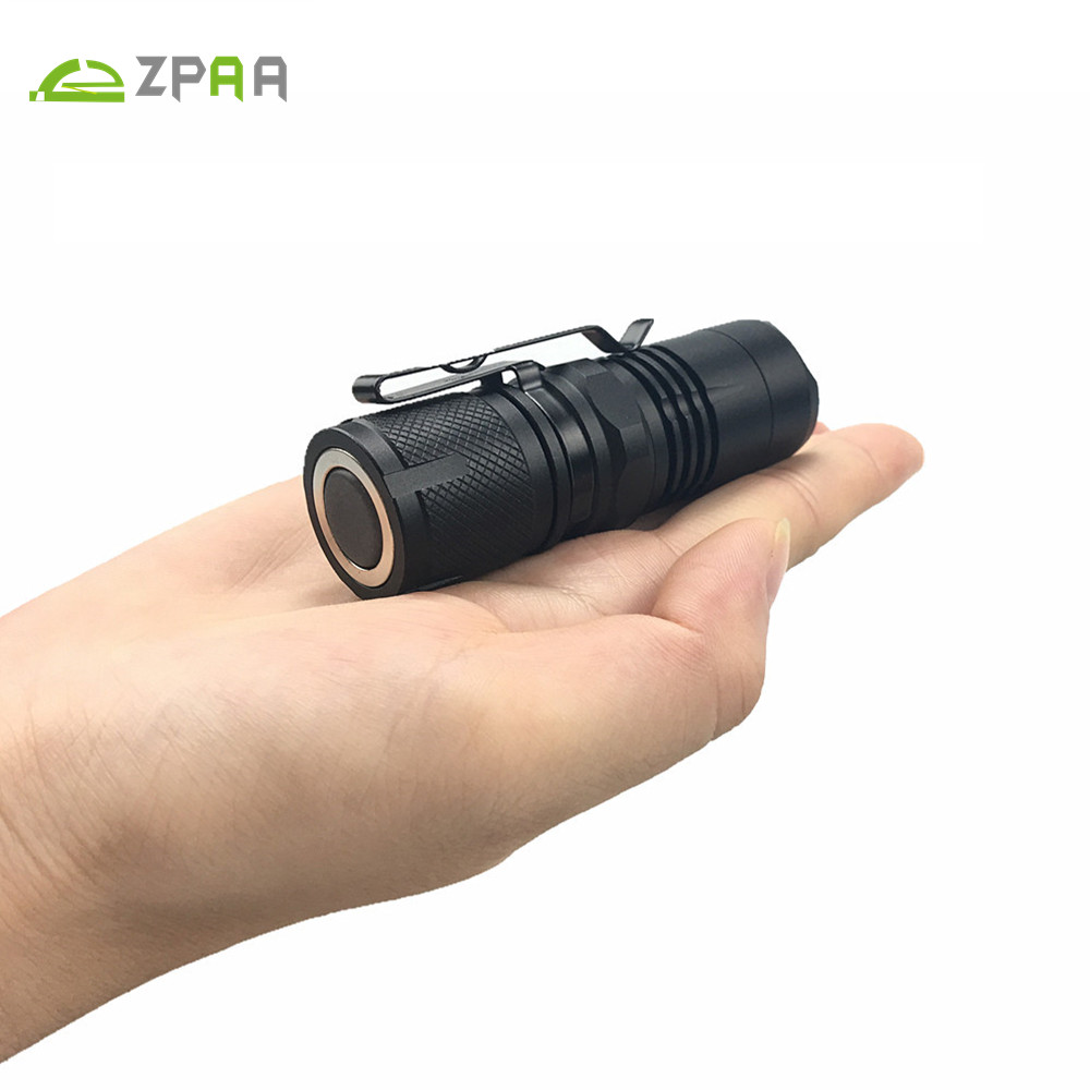 ZPAA Portable Super Mini Flashlight xml L2 T6 LED Torch Lantern 4 Modes Zoomable Waterproof 16340 LED Lamp Penlight With Magnet new arrival cool punk bracelet quartz watch wristwatch skull bullet chain gothic style analog leather strap men women xmas gift