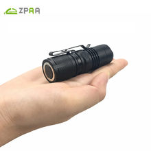ZPAA Portable Super Mini Flashlight xml L2 T6 LED Torch Lantern 4 Modes Zoomable Waterproof 16340 LED Lamp Penlight With Magnet(China)