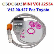 Новые V12.00.127 мини VCI для TIS Techstream Стандартный OBD2 Связь Интерфейс MINI-VCI автомобиля Диагностический Кабель и разъёмы