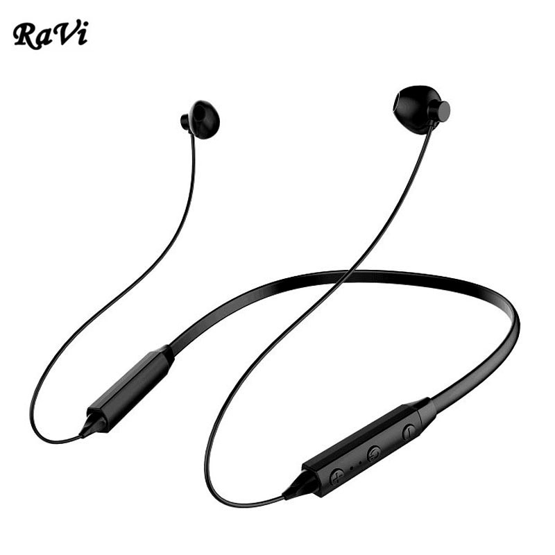 RAVI Wireless Bluetooth Headphones Waterproof IPX5 Earphone Neckband Sport Running Headphone for apple Sony iphone 8 auriculares ...
