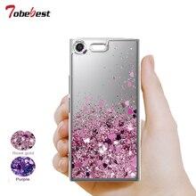 For Sony XZ Primium Glitter Liquid Case Xperia Premium Silicone Coque Dynamic Qicksand Star Love heart Back Cover