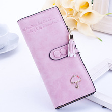 купить Brand Leather Women Wallets High Quality Designer Zipper Long Wallet Women Card Holder Ladies Purse Money Bag Carteira Feminina по цене 583.42 рублей