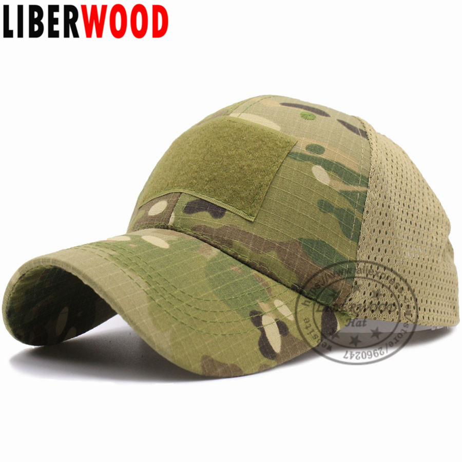 LIBERWOOD ACU Multicam Operator Hat Special Force Camo Mesh Cap Airsoft Hat for Men Tactical Contractor Army Baseball caps Hat