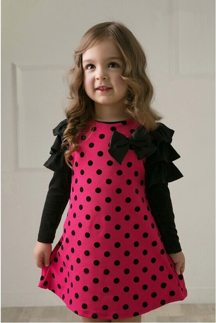 New 2017 spring dot girls' dresses, children's clothes, children's princess gauze clothes, girl dress