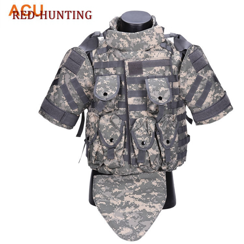 New OTV Tactical Vest Camouflage combat Body Armor With Pouch/Pad USMC Airsoft Military Molle Assault Plate Carrier CS Clothing