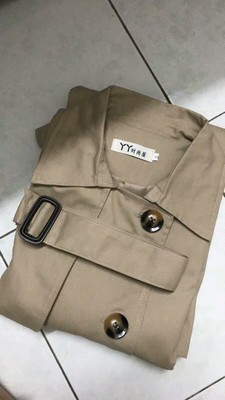 Spring And Autumn Women Fashion Brand Korea Style Waist Belt Loose Khaki Color Trench Female Casual Elegant Soft Long Coat Cloth 81