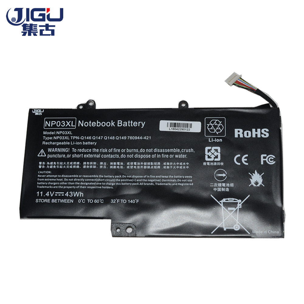JIGU Laptop Battery FOR <font><b>HP</b></font> For ENVY 15-U U030nd U010DX U011dx U050CA FOR Pavilion <font><b>13</b></font>-a000ns A010dx A058ca B080sa image
