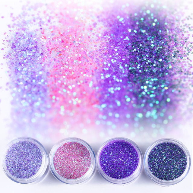 Holographic Nail Powder Nail Glitter Sequins Ultra Thin Mixed Size Shining Paillette Flakes 3D Nail Art Decorations Design