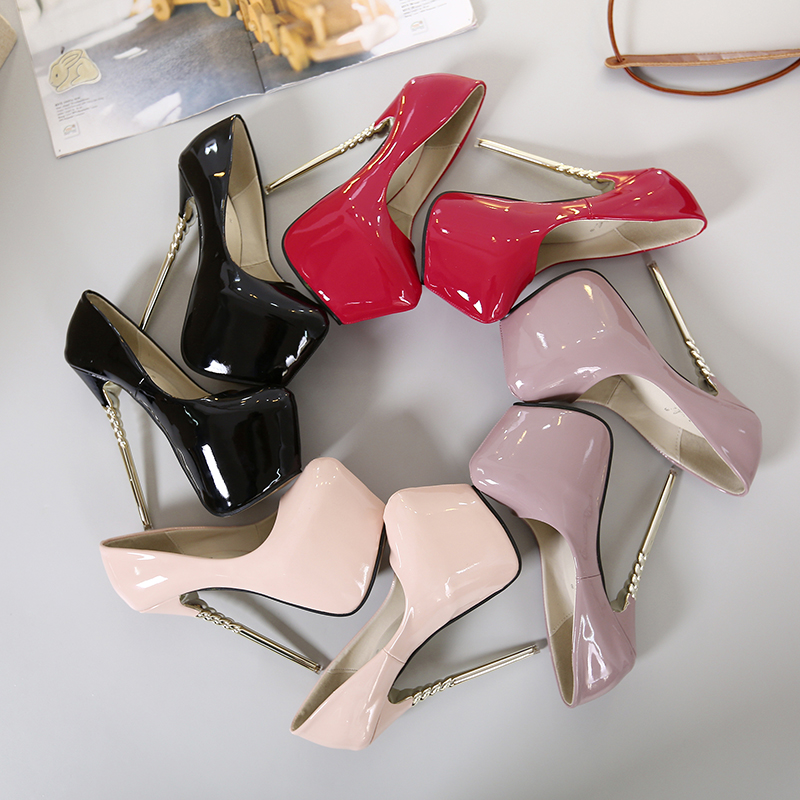 Sexy Women Concise Super High Thin Heels 16cm platforms 7CM shoes Round toe pumps Wedding Party leather shoes zapatos ME-95Sexy Women Concise Super High Thin Heels 16cm platforms 7CM shoes Round toe pumps Wedding Party leather shoes zapatos ME-95