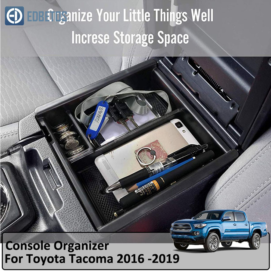 Tacoma Car Center Console Armrest Box Glove Box Secondary Storage Console Organizer Insert Tray for Toyota Tocoma 2016-2019