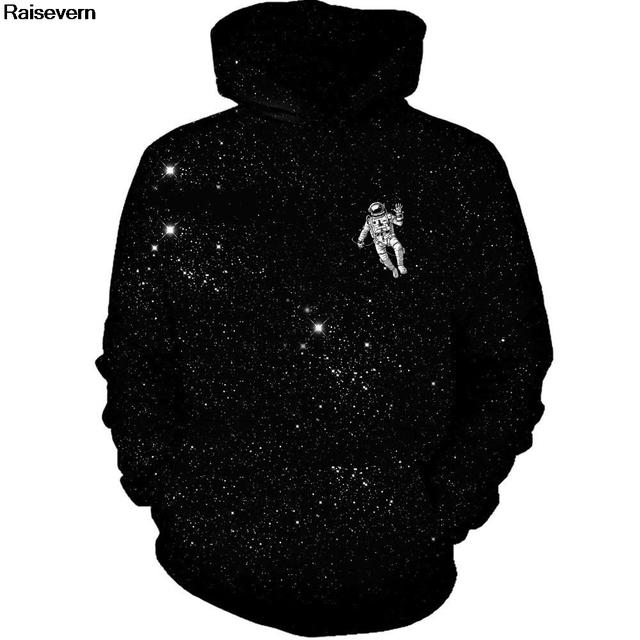 Astronaut Space Galaxy Hoodies Sweatshirts Men Women Spring Autumn Sportswear Tracksuit 2018 Long Sleeve 3D Hoody Hooded 5XL