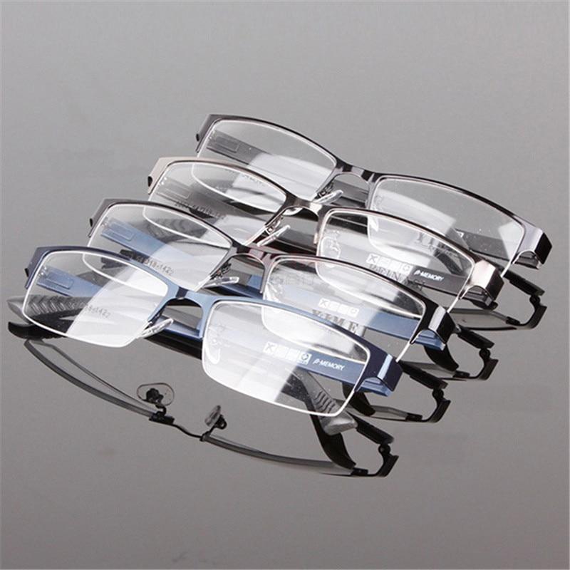 Men Durable Eyewear Metal Frame Half Rim Designer Clear Lens Eye Glasses Frame Wholesales|Men