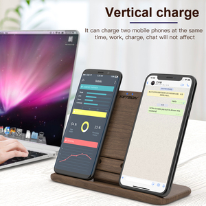 Image 4 - KEYSION 5 Coils Dual Wireless Charger Stand/Pad convertible Qi Fast Charging for iPhone 11 XS Max XR Samsung AirPods Xiaomi Mi9