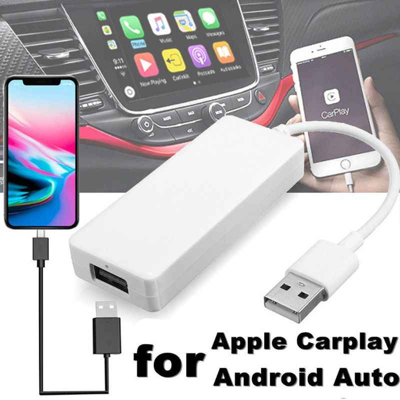 Mini Portable USB CarPlay Smart Auto Link Dongle Car Link Stick for Apple Android Navigation Music Player for iPhone Android Sma