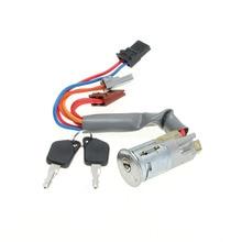 Ignition Starter Switch Lock Barrel 6 Pin 2 Keys For Peugeot 1993-2002 306 Hatchback /coupe /estate /saloon
