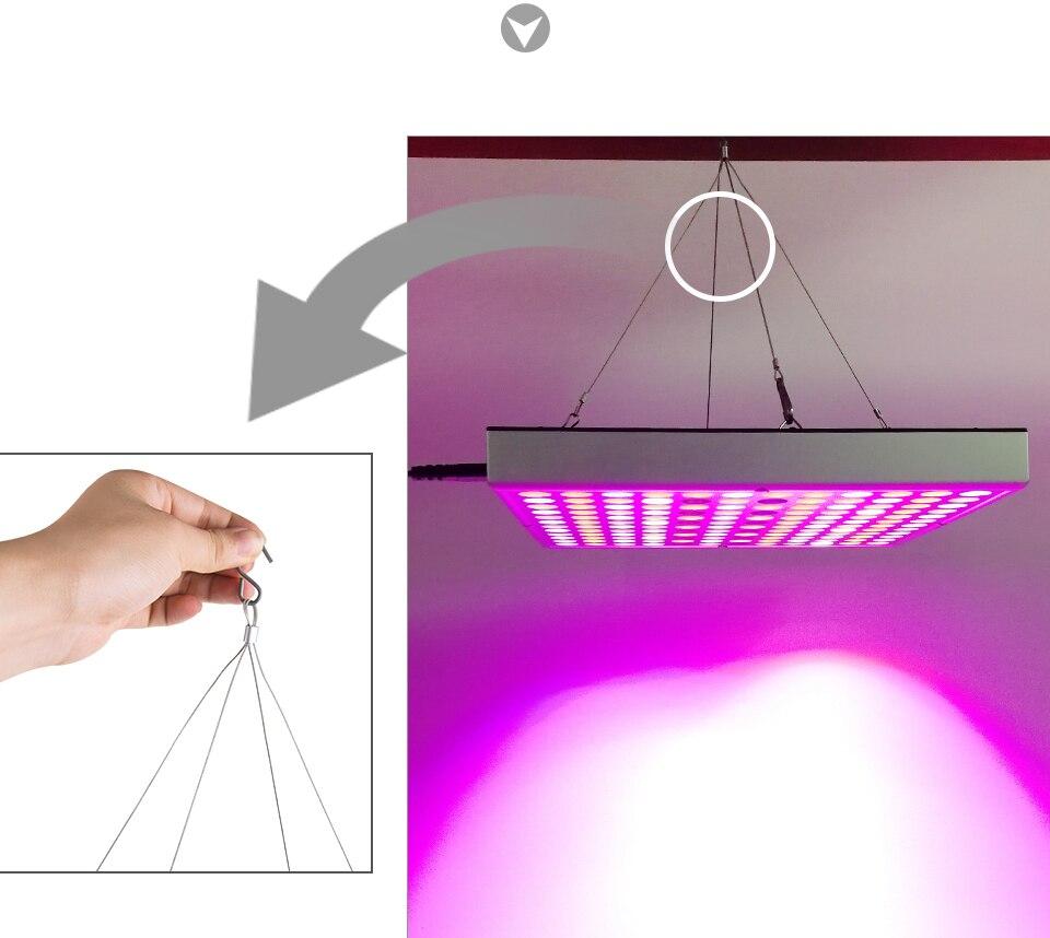LED Plant Grow Light Full Spectrum 45W AC 85-265V Phyto Lamp for Plants Flower Seedlings 144LEDs Indoor Grow Light Hanger Kit (10)
