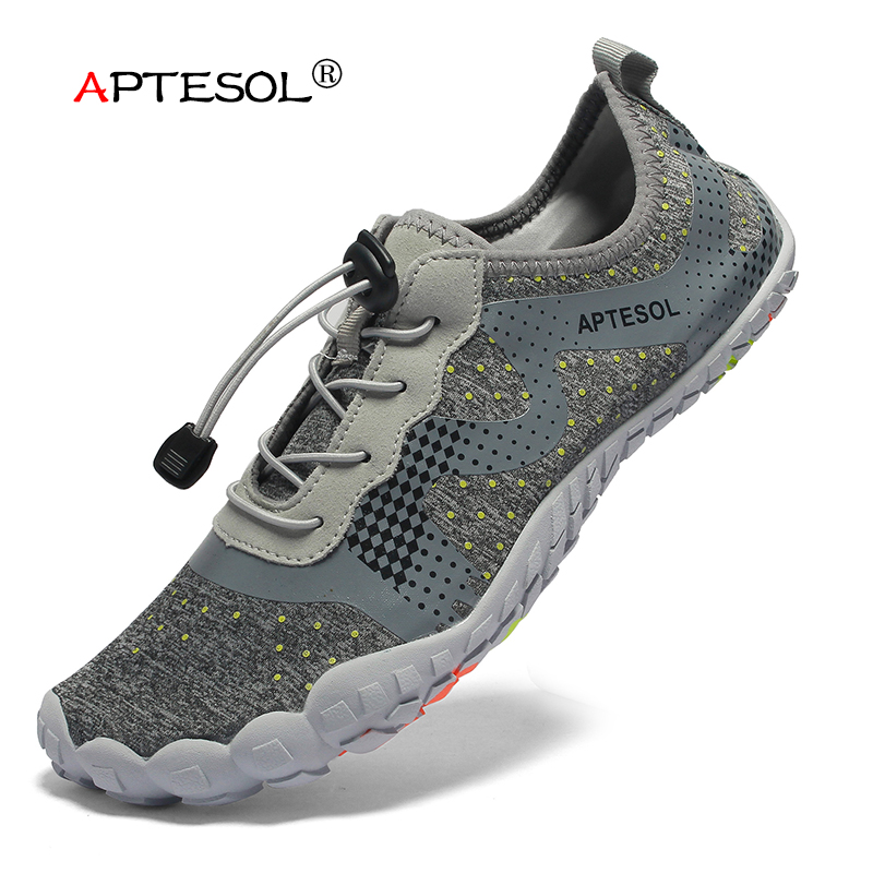 APTESOL Brand Men Mesh Running Shoes Breathable Non slip Drop Shipping Sneakers Gym Walking Shoes Outsole Toes Quick Drying Shoe