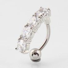 Кольцо для пупка с пупырышками Ювелирное кольцо из циркона 14