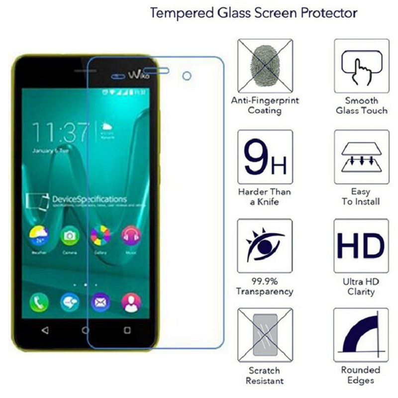 Wiko Lenny 2 3 Sunny Sunset 2 Getaway Highway 4G Pure Signs Tempered Glass Screen Protector Film 0.3mm 9H Transparent Protective
