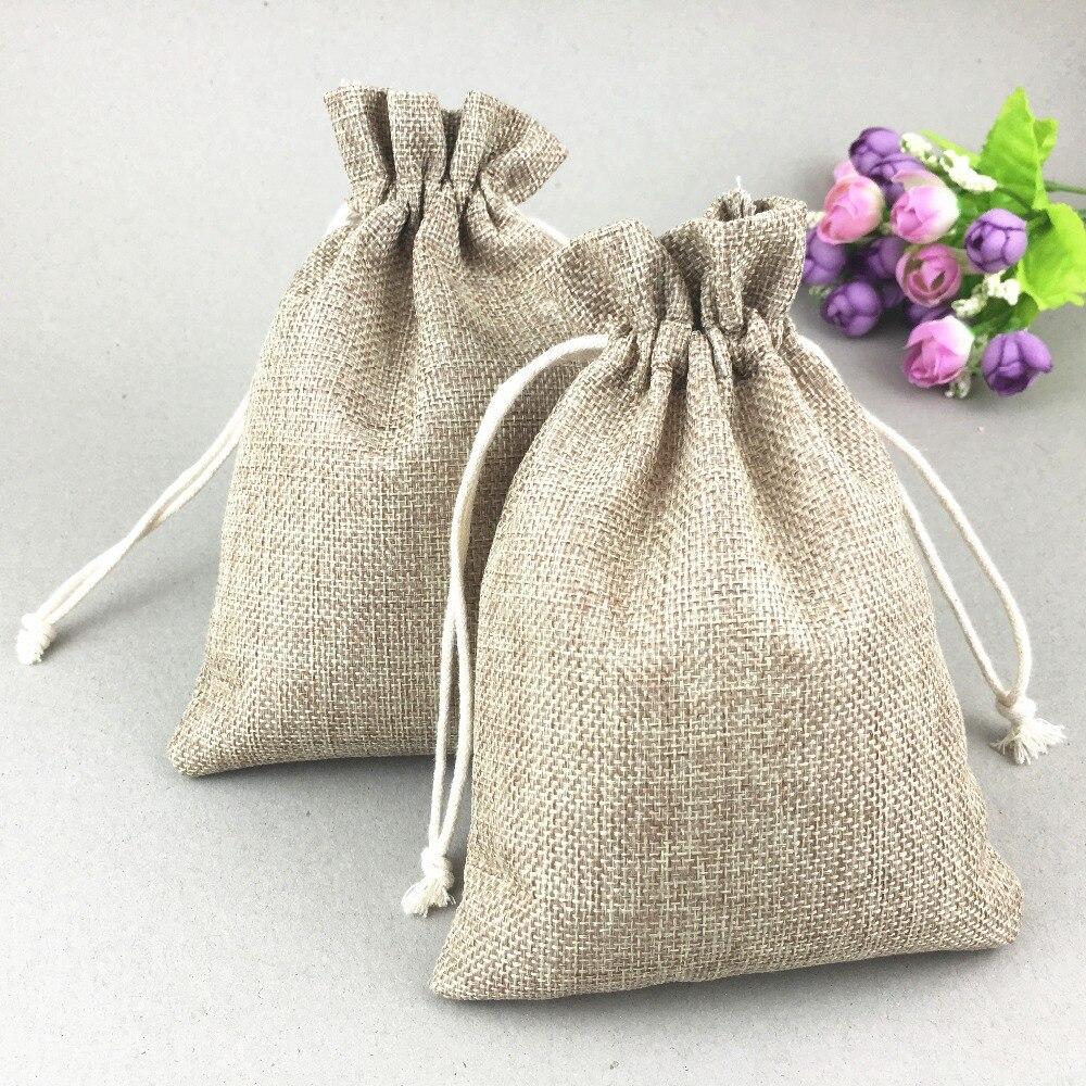 50pcs Faux jute sock/Hessian Hemp Burlap Jewelry Gift christmas sack Shoes Packaging Storage Bags gift bag for jewelry/wedding-in Jewelry Packaging ...