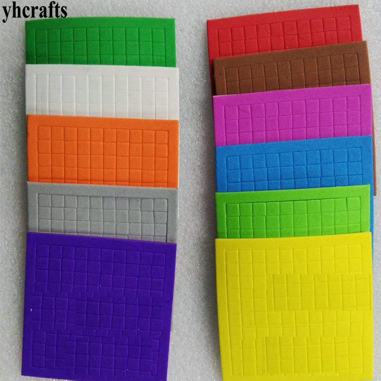 1bag(10sheets)/Lot,10 Color EVA Foam Mosaic Stickers Early Educational Toys Kindergarten Crafts Color Learning Handmade Homework