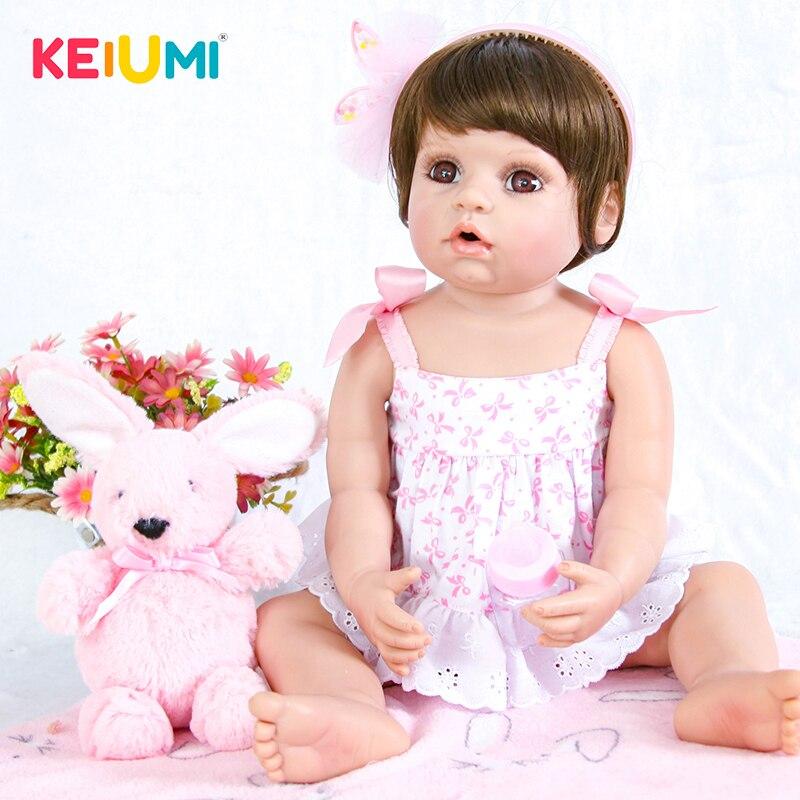 22 pouce Réaliste Reborn Bébé Poupée 55 cm Silicone Corps Entier Vivant Princesse Bébé Poupée Jouet Pour Enfants de Jour cadeau Enfant Coucher Jouer