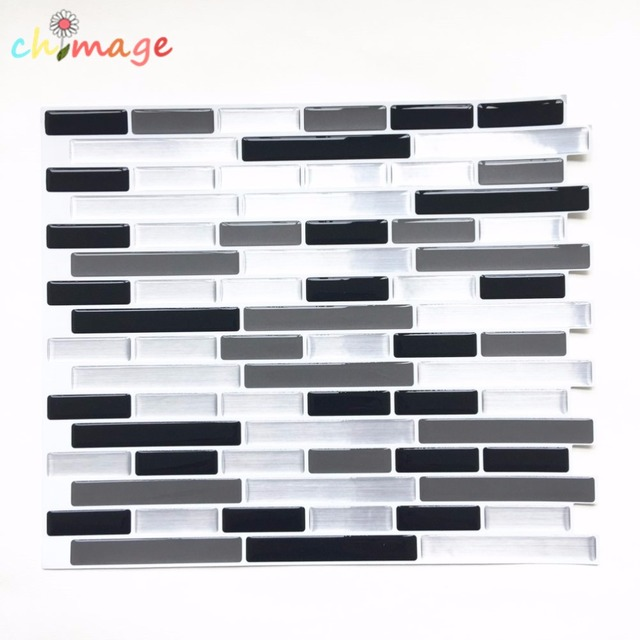 Selbstklebende Mosaik Fliesen Wand Aufkleber Aufkleber DIY Küche Bad - Selbstklebende vinyl fliesen wand