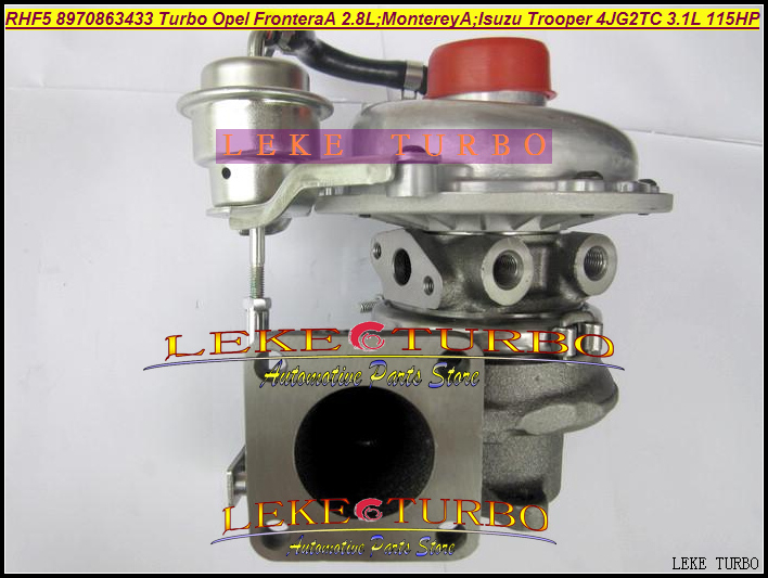 RHF5 VI95 8970863433 VB430023 VA430023 Turbo For OPEL Frontera A 2.8L Monterey A For ISUZU Trooper 4JG2TC 4JG2T 4JG2 3.1L 115HP opel frontera 1992 года в москве 120000