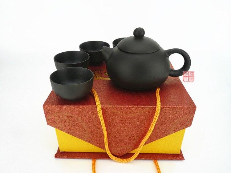 Yixing tea teapot set quality exquisite gift handmade gift box packaging