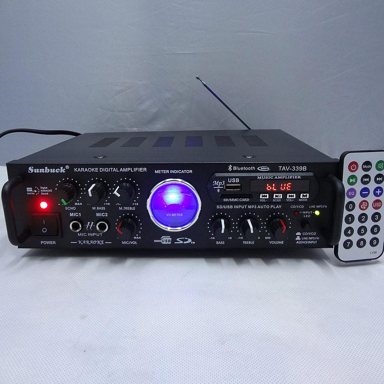 DC 220V AC12V 100W High Power 2.0 Channel Bluetooth USB Remote FM Radio Karaoke Reverb KTV Speaker AV HiFi Family Car Amplifier free shipping czh618f 100c 100w 2u fm stereo radio transmitter exciter power adjustable from 0 to 100w