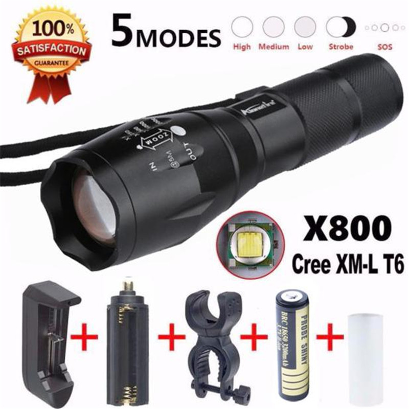A1 Led Flash Light X800 Tactical Flashlight LED Military Lumens Alonefire 100% Brand New ...