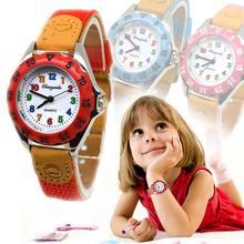 Di recente Svegli Delle Ragazze Dei Ragazzi Della Vigilanza Del Quarzo Cinturino In Tessuto Per Bambini Per Bambini Studente Time Clock Orologio Da Polso Regali