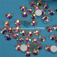 Excellent Quality 8+8 Facets SS16 SS20 SS30 Clear AB Flatback Strass Crystal Non Hotfix Nail Art Rhinestone for Nails Decoration