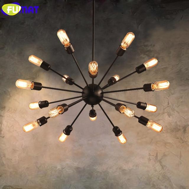Fumat Indoor Lighting Vintage Chandelier Loft Lamp Retro E27 Edison Bulb Light Fixtures Living Room